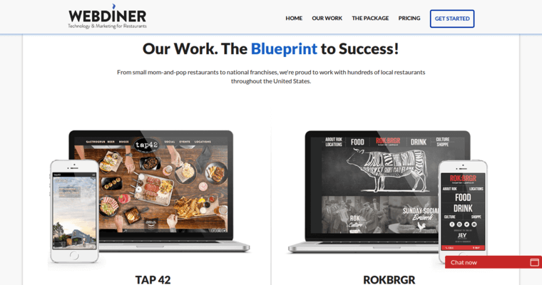 Webdiner best restaurant web design firms