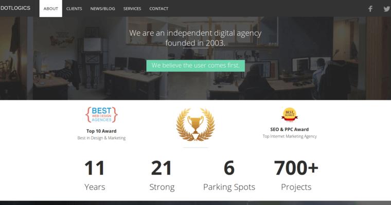 Dotlogics best restaurant web design agencies