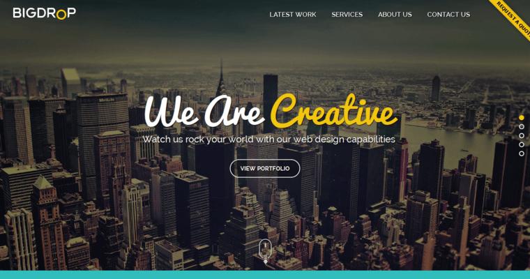 best home page design. Big Drop Inc Home Page  Best Restaurant Web Design Firms