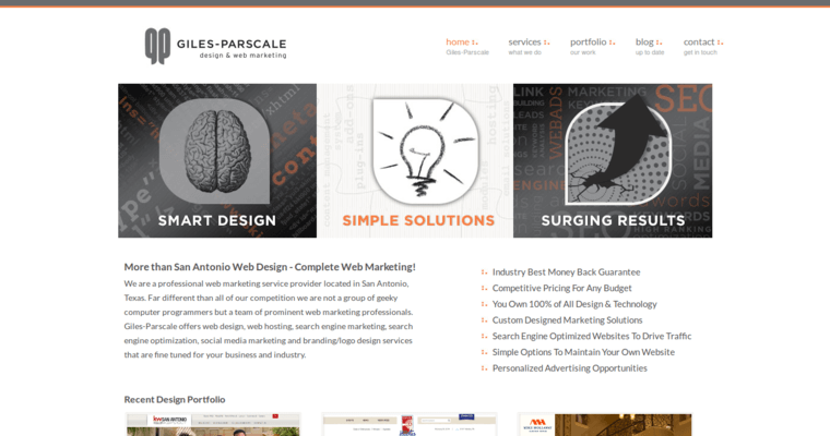 Home Page Of 1 Top Sa Web Design Agency Giles Parscale