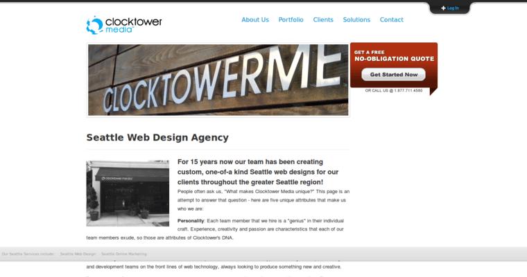 Clocktower media best web design firms seattle for Top 10 design firms