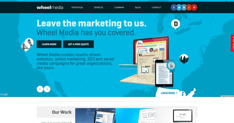 Wheel Media Best Sf Website Design Companies 10 Best Design