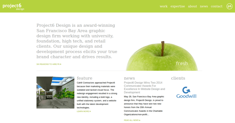 Project6 best bay area web design companies 10 best design for Design companies in san francisco