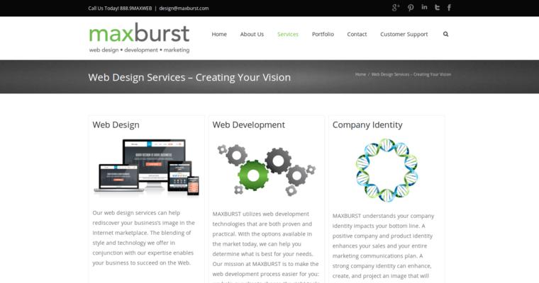 Maxburst best small business web design firms for Service design firms