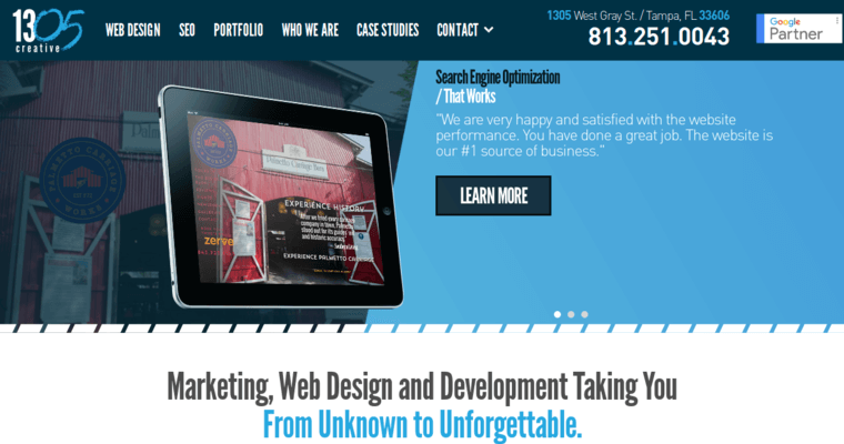 Thirteen05 Creative Best Web Design Firms Tampa