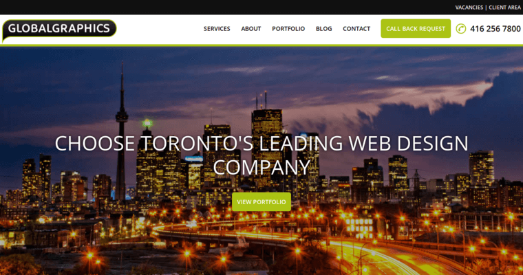 Globalgraphics best web design firms toronto for Design agency toronto