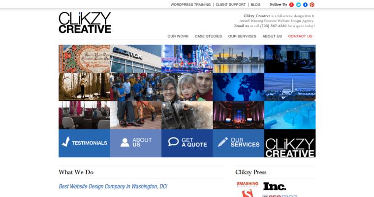 Clikzy Creative Best Web Design Firms Dc