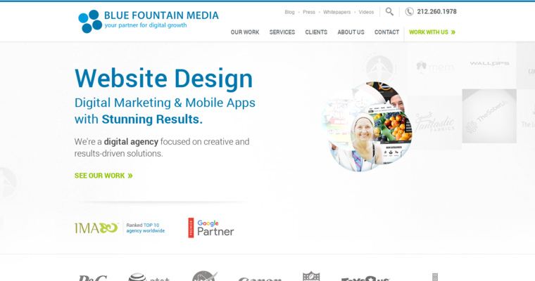 Blue Fountain Media Top Web Developers 10 Best Design