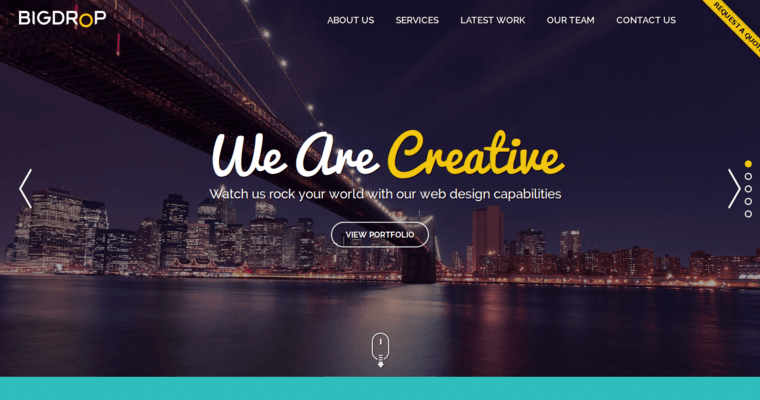 home web design. Big Drop Inc Home Page  Best WordPress Web Design Firms