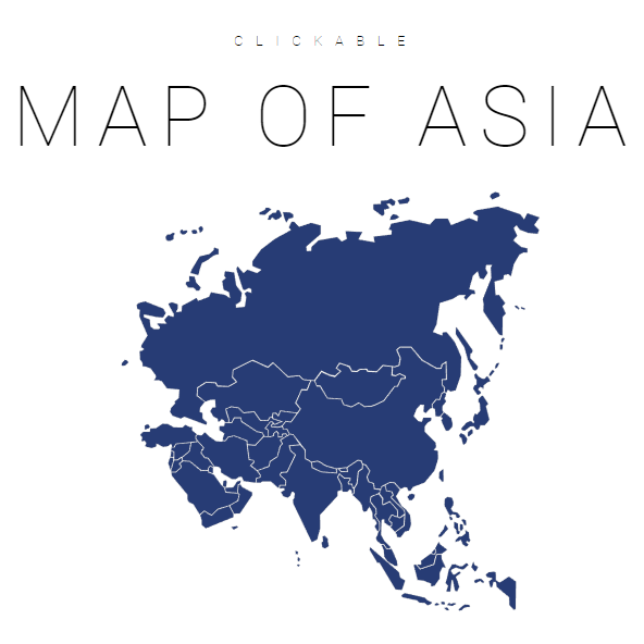 Clickable Map Of Asia Interactive Map Of Asia Jqvmap