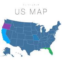 Clickable, Interactive U.S. Map