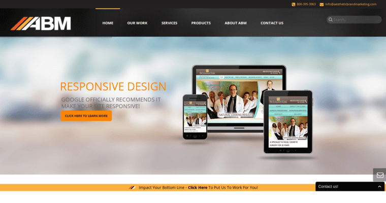 Home Page of Top Web Design Firms in California: Aesthetic Brand Marketing