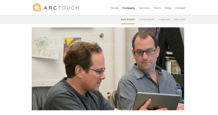 Company Page of Top Web Design Firms in California: ArcTouch