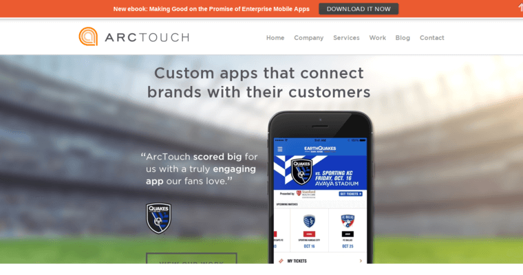 Home Page of Top Web Design Firms in California: ArcTouch