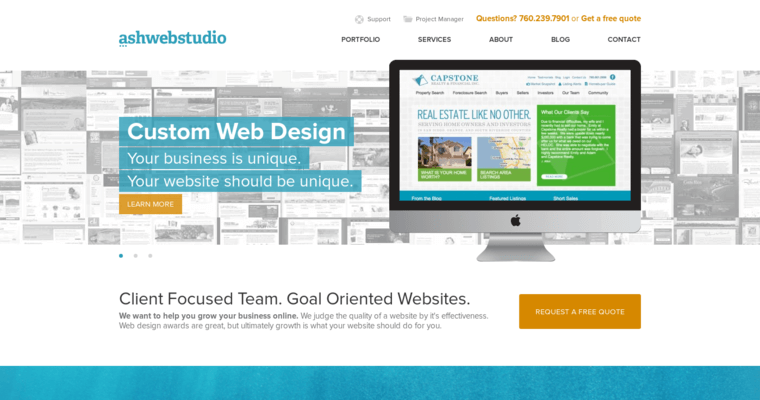 Home Page of Top Web Design Firms in California: AshWebStudio
