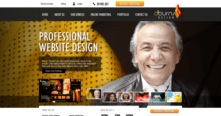 Home Page of Top Web Design Firms in California: Dburns