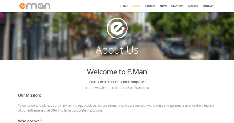 About Page of Top Web Design Firms in California: E-Man