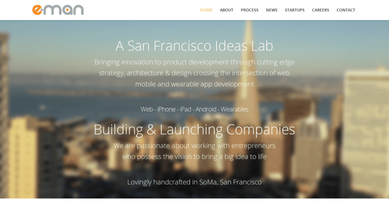 Home Page of Top Web Design Firms in California: E-Man