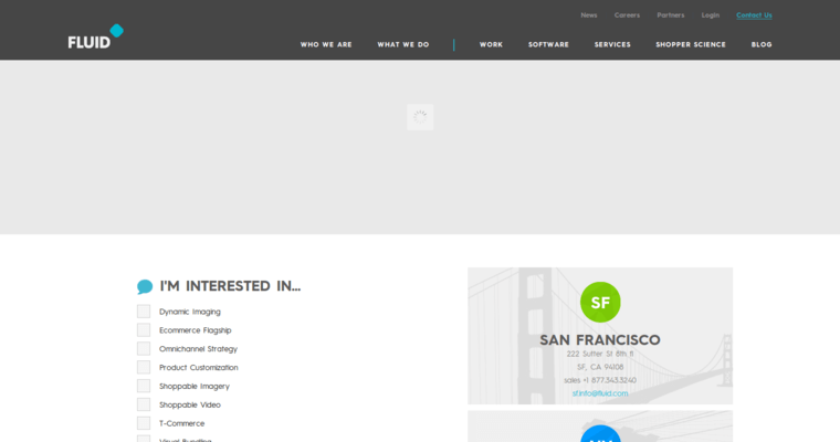 Contact Page of Top Web Design Firms in California: Fluid