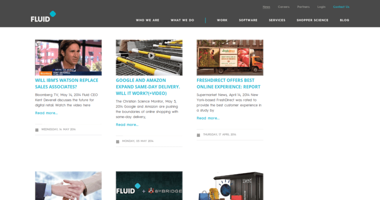 News Page of Top Web Design Firms in California: Fluid