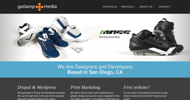 Home Page of Top Web Design Firms in California: Gaslamp Media