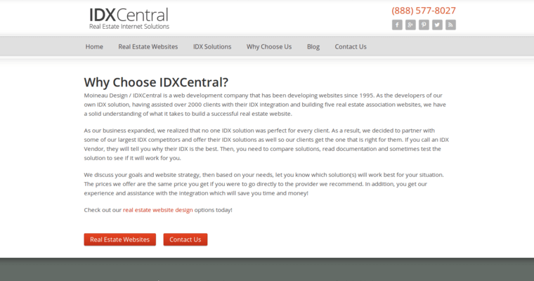 About Page of Top Web Design Firms in California: IDX Central