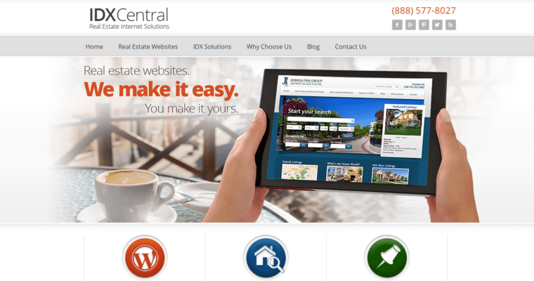 Home Page of Top Web Design Firms in California: IDX Central