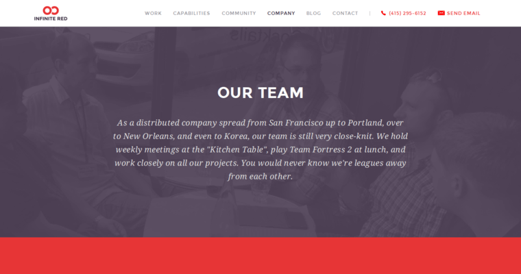 Company Page of Top Web Design Firms in California: Infinite Red