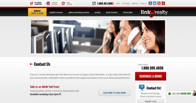 Contact Page of Top Web Design Firms in California: Linkurealty