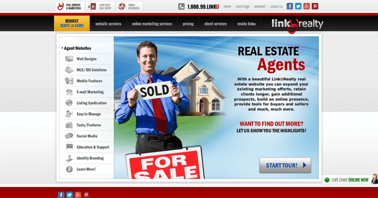 Websites Page of Top Web Design Firms in California: Linkurealty
