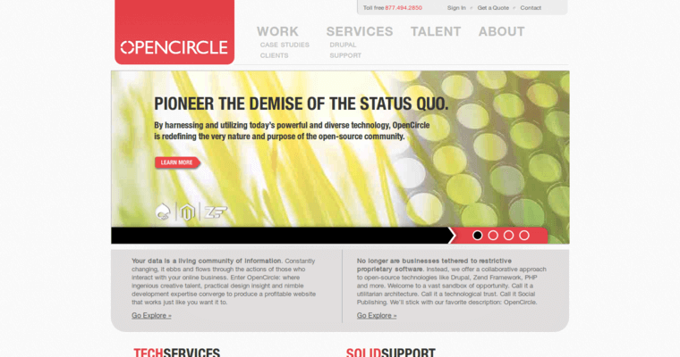 Home Page of Top Web Design Firms in California: OpenCircle