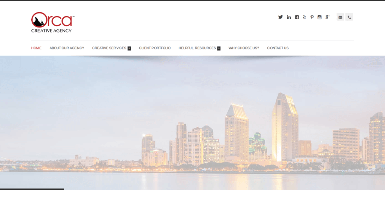 Home Page of Top Web Design Firms in California: Orca Creative Agency