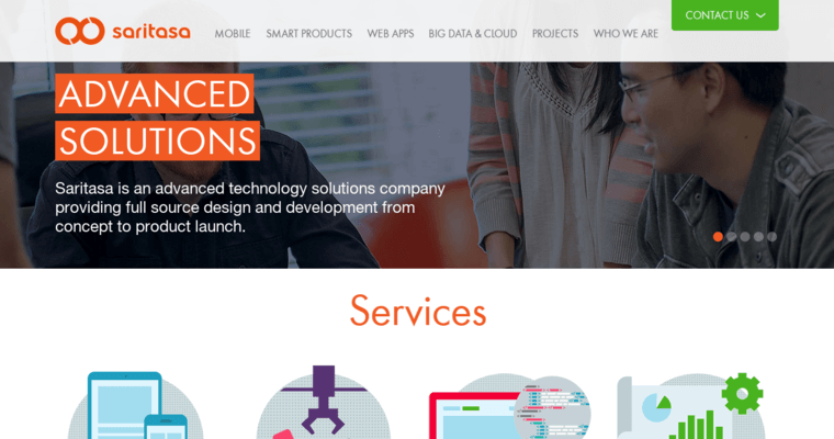 Home Page of Top Web Design Firms in California: Saritasa