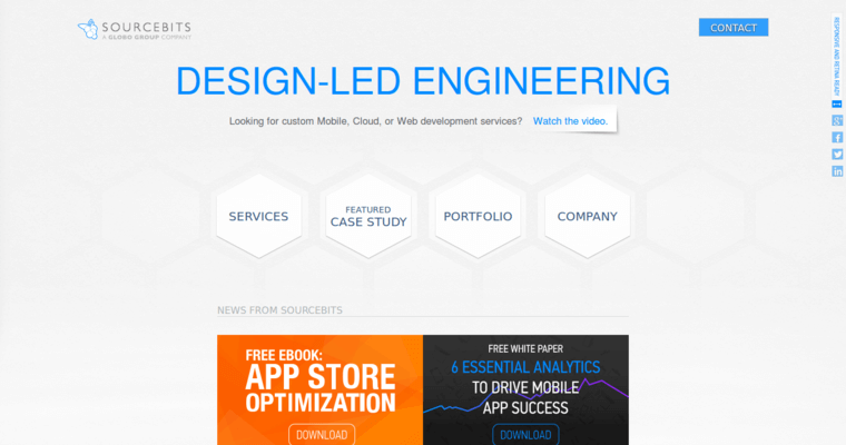 Home Page of Top Web Design Firms in California: Sourcebits