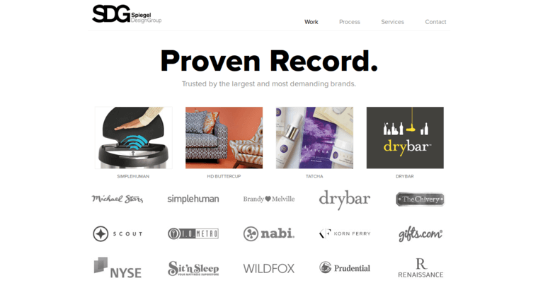 Work Page of Top Web Design Firms in California: Spiegel Design Group