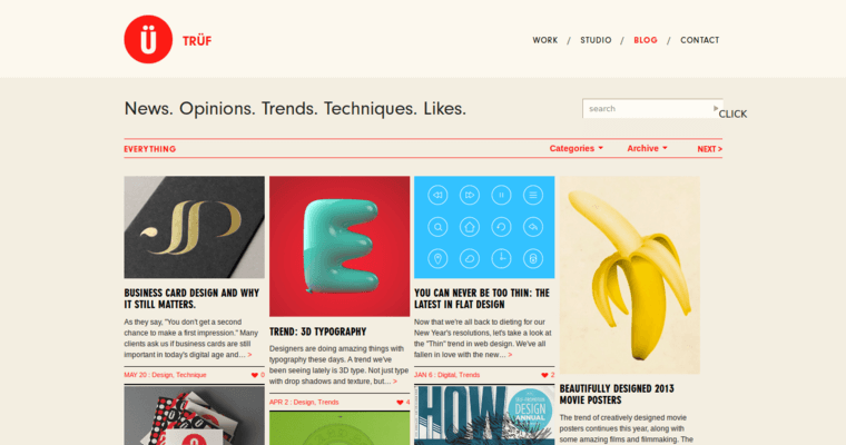 Blog Page of Top Web Design Firms in California: TRÜF Creative
