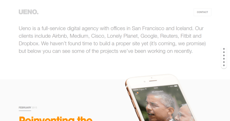 Home Page of Top Web Design Firms in California: Ueno