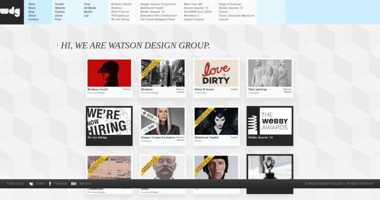 Home Page of Top Web Design Firms in California: Watson DG