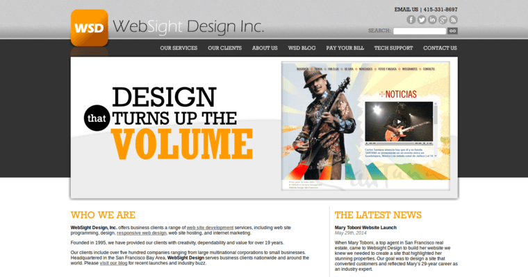 Home Page of Top Web Design Firms in California: WebSight Design