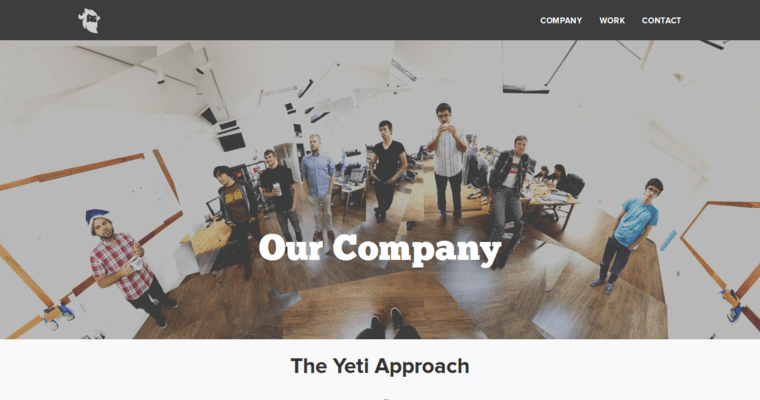 Company Page of Top Web Design Firms in California: Yeti