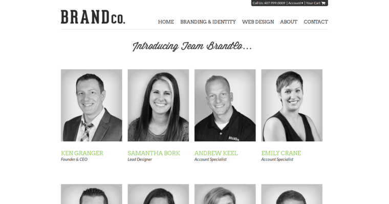 Team Page of Top Web Design Firms in Florida: BrandCo