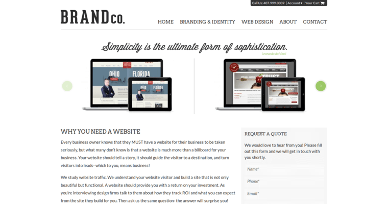 Web Design Page of Top Web Design Firms in Florida: BrandCo
