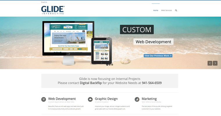 Home Page of Top Web Design Firms in Florida: Glide Interactive