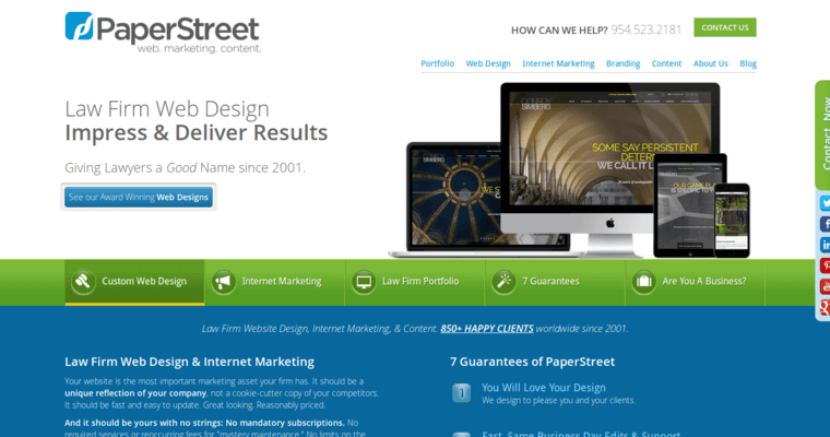 Home Page of Top Web Design Firms in Florida: PaperStreet