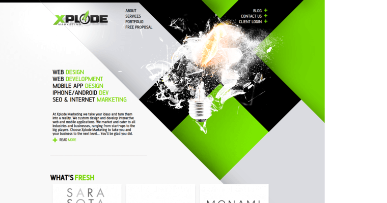 Home Page of Top Web Design Firms in Florida: Xplode Marketing