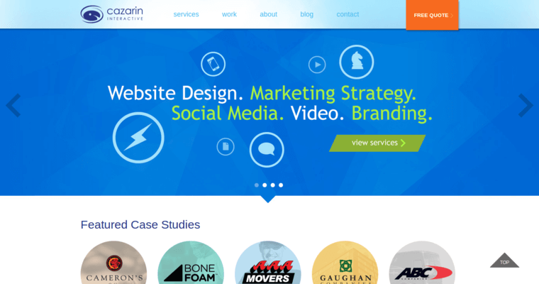 Home Page of Top Web Design Firms in Minnesota: Cazarin