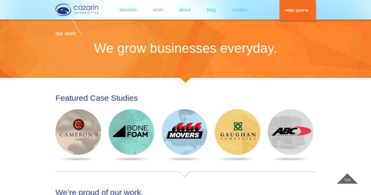 Work Page of Top Web Design Firms in Minnesota: Cazarin