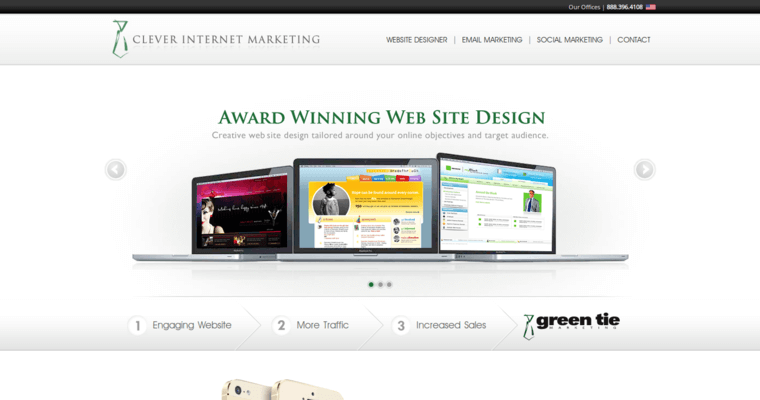 Home Page of Top Web Design Firms in Missouri: Green Tie Marketing