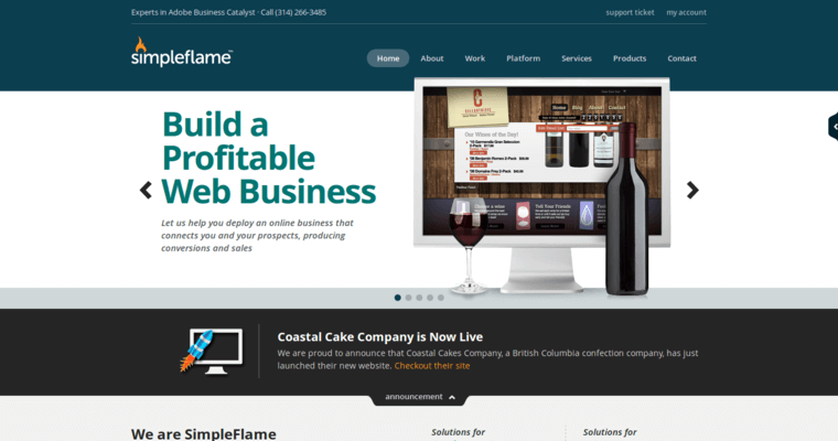 Simple Flame Missouri Web Design