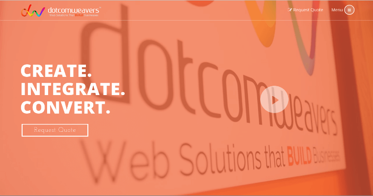 Home Page of Top Web Design Firms in New Jersey: Dotcomweavers